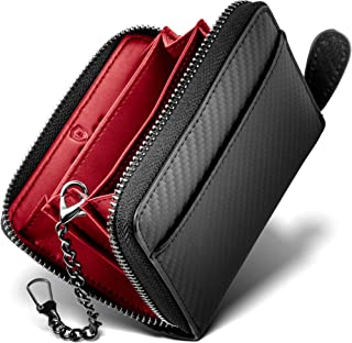 【 GRACE 】財布 ラウンドファスナー 小銭入れ メンズ イタリアン カーボンレザー