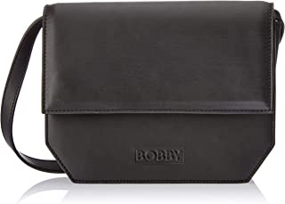 Bobby Universe Women's No. 5 Cross-Body Handbags, Black Vegetable Tanned Leather, One Size