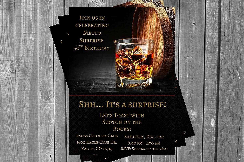 Adult Birthday Party Los Angeles Mall Invitation Scotch Whiskey San Jose Mall Wine Whisk Barrel