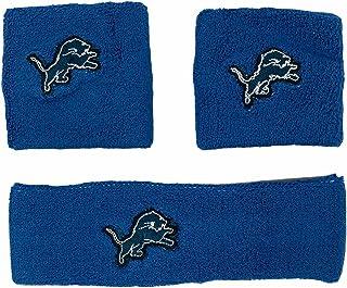 NFL Detroit Lions Wristband Headband 3-Piece Set with Team Logo