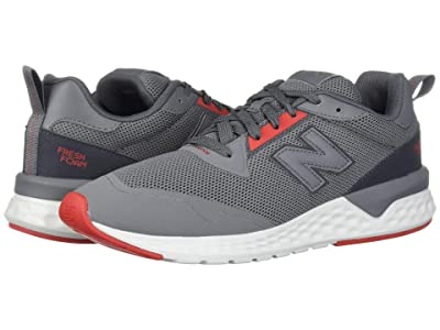 New Balance Classics MS515v2 (Castlerock/Velocity Red Synthetic/Mesh) Men