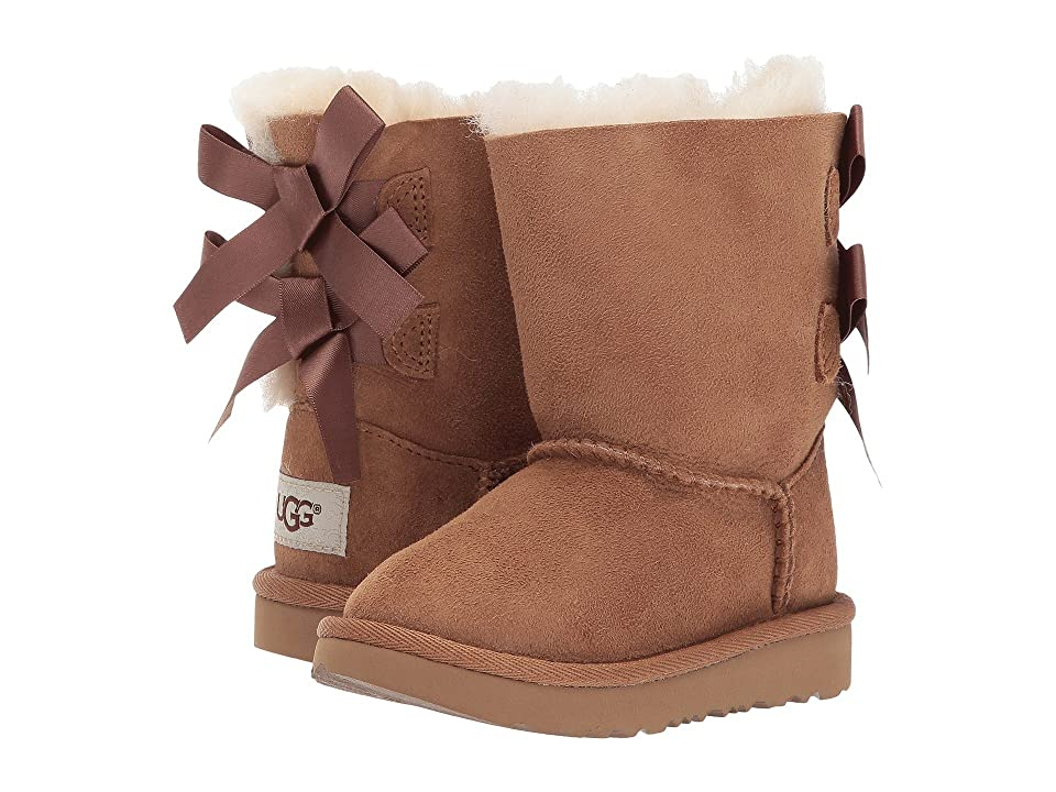 UGG Kids Bailey Bow II (Toddler/Little Kid) (Chestnut) Girls Shoes