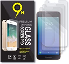 Screen Protector Samsung Galaxy J2 Core, J2 Pure, Tempered Glass, Case Friendly, 3-Pack