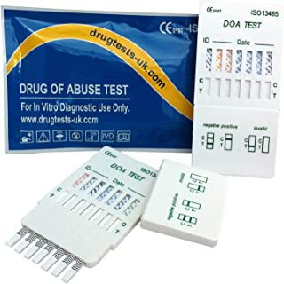 4Test de drogas 7 en 1: detecta el uso de cocaína, heroína, speed, metadona, benzodiazepina, éxtasis, cannabis, morfina, buprenorfina y barbitúricos en 1 test