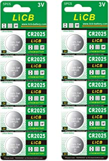 LiCB 10個入 CR2025 リチウム ボタン 電池 3V 2025 コイン形電池 水銀ゼロシリーズ
