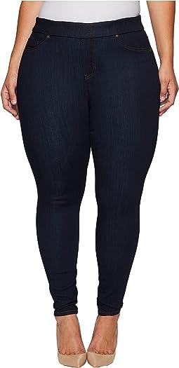Liverpool - Plus Size Sienna Pull-On Leggings on Silky Soft Denim in Indigo Rinse