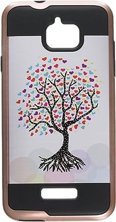 Asmyna teléfono Celular para Coolpad Catalizador–Love árbol (Oro Rosa)/Negro