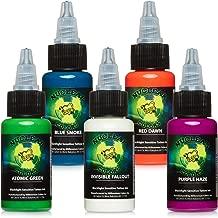 Millennium Mom's Nuclear UV Blacklight Tattoo Ink - 5 Color Set - 1/2 oz