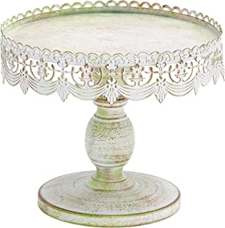 Benzara BM05833 Decorative Traditional Style Metal Cake Stand, White