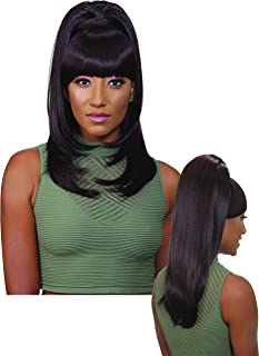 EVE HAIR Casablanca - 100% Heat Retardant Fiber 2 in 1 Bang & Ponytail - Bang Hair Extension with 22