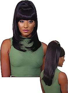 EVE HAIR Casablanca - 100% Heat Retardant Fiber 2 in 1 Bang & Ponytail - Bang Hair Extension with 22