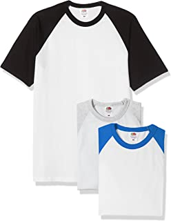 Fruit of the Loom Men's Baseball Classic Short Sleeve T-Shirt (Pack of 3)