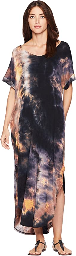 Kiley Short Sleeve Tie-Dye Maxi Dress