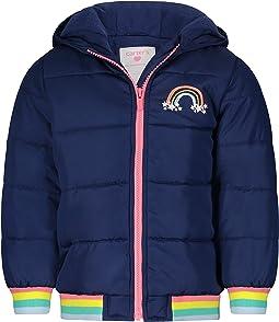 Fleece Lined Puffer Jacket Coat