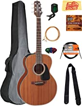 Takamine GX11ME 3/4-Size Travel NEX-Mini Acoustic-Electric Guitar - Natural Satin Bundle with Gig Bag, Cable, Tuner, Strap...