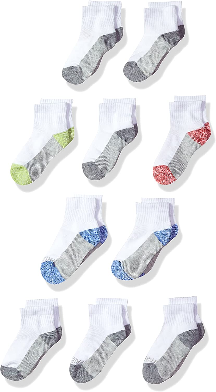 Fruit of the Loom Boys' Little Ankle 10 Pack Sock