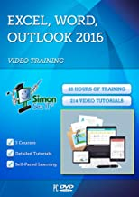 Excel, Outlook & Word 2016 For Beginners By Simon Sez IT: 3 Self-Based Courses With 23-Hour-Long Video Training Tutorials & Exercise Files
