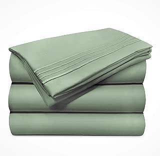 Briarwood Home Bed Sheet Set – Super Soft Brushed Microfiber 1999 Series Collection Premium Deep Pocket Bedding – Wrinkle & Fade Resistant – 3 Piece Set (King/Sage)
