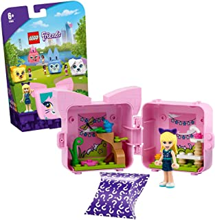 LEGO 41665 Friends Stephanie's Cat Cube Series 4 Mini Set, Collectible Travel Toy & Room Decor