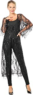 Metme Sequins Cardigan Cloak See-Through Open Front Shawls Sparkly Club Cardigan for Evening Prom