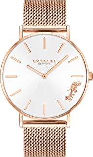 Coach WOMEN'S SILVER WHITE DIAL IONIC ROSE GOLD PLATED STEEL WATCH - 14503126