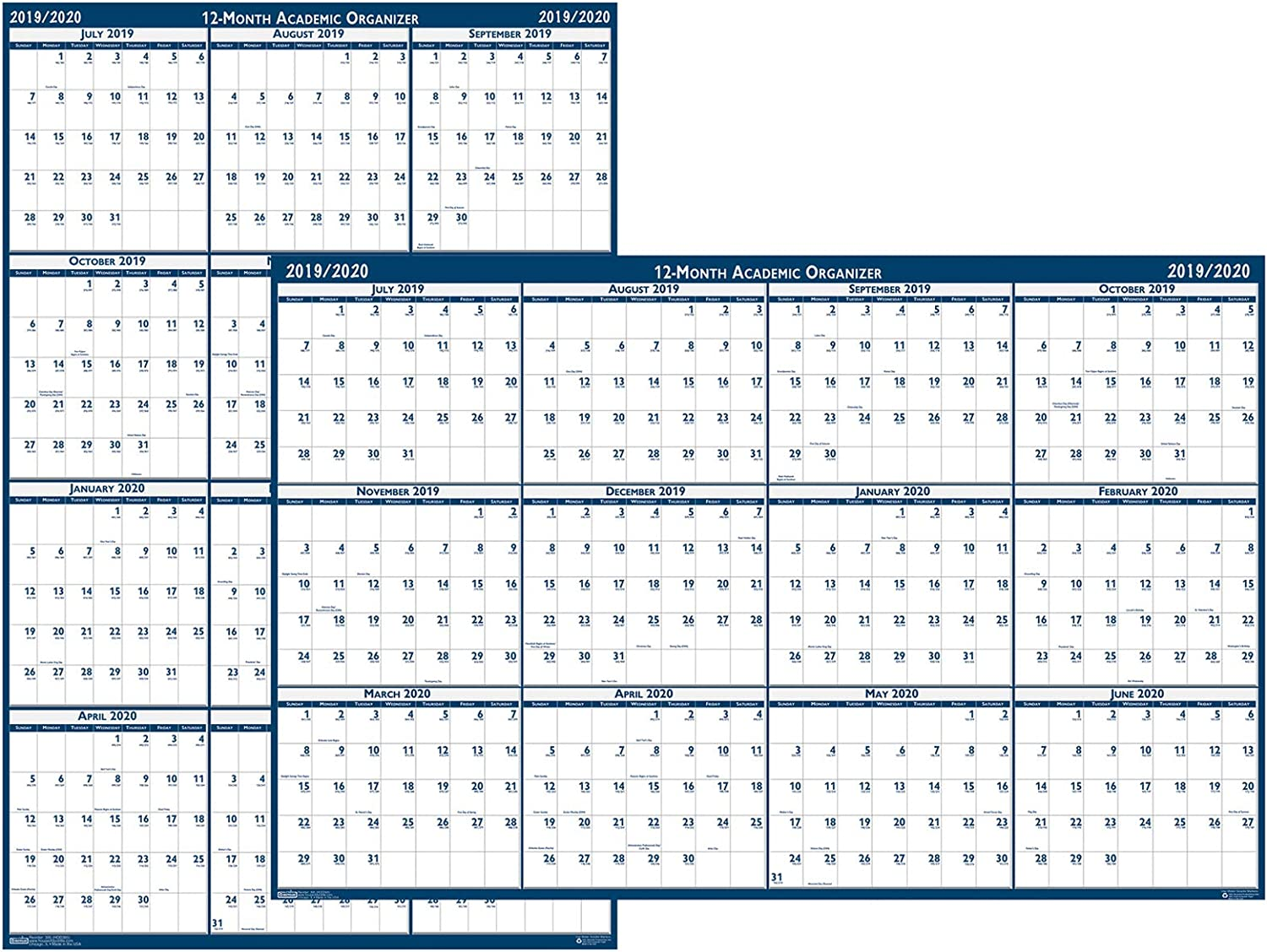 House of Doolittle 2016-2017 Laminated Academic Calendar R Wall Free shipping anywhere Spring new work in the nation