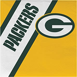 NFL Green Bay Packers Disposable Paper Napkins, Pack of 20