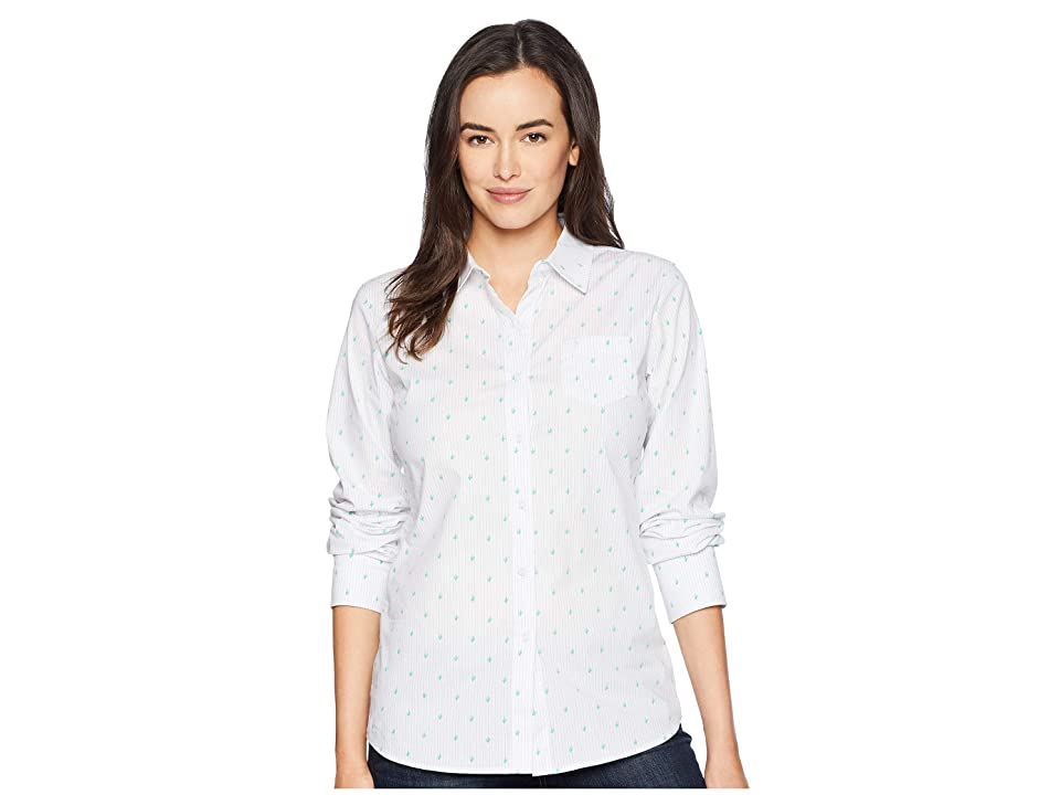 Ariat Kirby Stretch Shirt (Cactus Print) Women's Long Sleeve Button Up, White