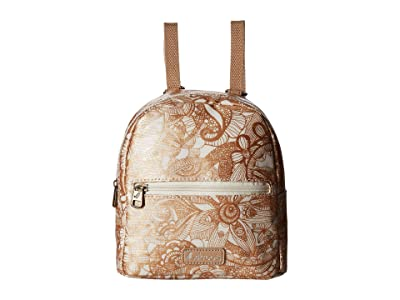 Sakroots Mini Crossbody Backpack (Rose Gold Spirit Desert) Backpack Bags