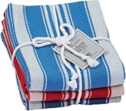 Design Imports Seashore Table Linens, 18-Inch by 28-Inch Dishtowel Gift Set, Set of 3, Maritime Heavyweight, 1 Light Blue,...