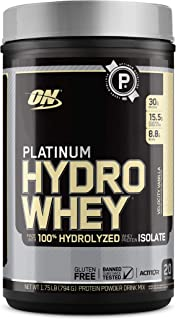 OPTIMUM NUTRITION Platinum Hydrowhey Protein Powder, 100% Hydrolyzed Whey Protein Isolate Powder, Flavor: Velocity Vanilla...