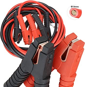 Voilamart Auto Heavy Duty Jumper Cables 1 Gauge 20Ft 3000AMP with Carry Bag Long Automotive Battery Jumper Cable Commercial Grade Booster Cables for Cars Battery Jump start Cables for trucks: image