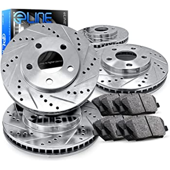 Power Stop K2883 Front /& Rear Brake Kit with Drilled//Slotted Brake Rotors and Z23 Evolution Ceramic Brake Pads