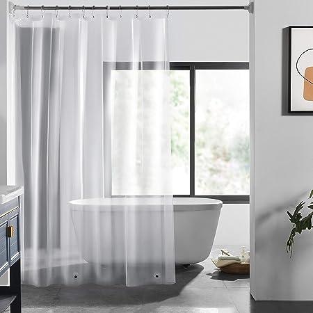 LOVTEX PEVA Shower Curtain Liner - 72x72 Lightweight 3G Clear Liner Water Repellent for Bathroom Shower, (3G Clear, 2PCS)