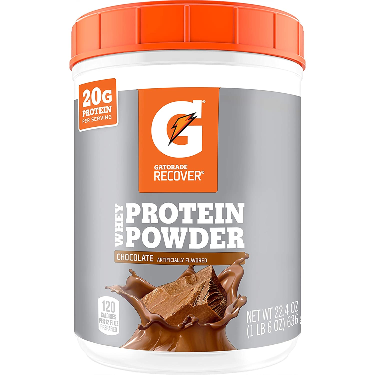 Gatorade Whey Protein Powder Chocolate Max 88% OFF servings Ounce famous 20 22.4