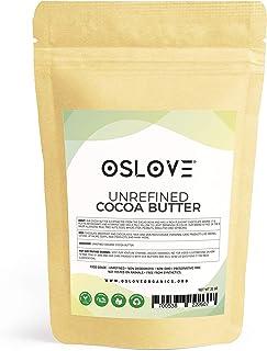 Organic Cocoa Butter FOOD GRADE 2LB by Oslove Organics - Raw, Non-Deodorized, Unrefined - Best Cocoa Butter for DIY body b...