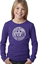 LA POP ART Girl's Long Sleeve Word Art T-Shirts - Smile in Different Languages
