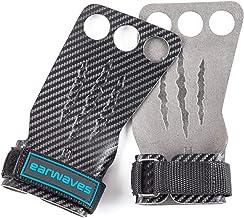 Earwaves ® Carbon Spino Grips 2 & 3 Agujeros - Calleras Crossfit para Hombre y Mujer. Ideales para Gimnásticos, Calistenia, Dominadas, Pull ups, Muscle ups, Barra, Anillas, etc.