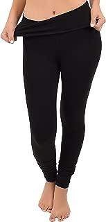 Women's Teamwear Foldover Full Length Cotton Leggings