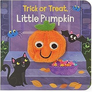 Trick Or Treat Little Pumpkin Finger Puppet Halloween Board Book Ages 0-4 (Children's Interactive Finger Puppet Board Book)