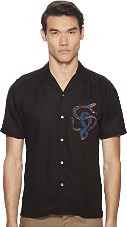 The Kooples - Embroidered Shirt with A Hawaiian Collar