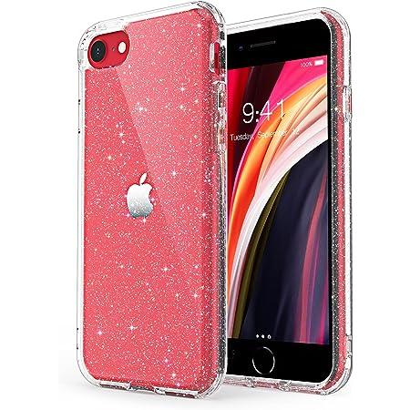 ULAK Custodia per iPhone SE 2020 Glitter, Cover iPhone 8/7 Trasparente Cover paraurti Protezione Antiurto in TPU Cover per Apple iPhone SE 2020 / ...