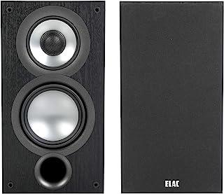 ELAC Uni-Fi 2.0 UB52 Bookshelf Speakers (Pair), Black (UB52-BK)
