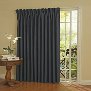 Eclipse Thermal Blackout Patio Door Curtain Panel, 100-Inch x 84-Inch, Storm Blue