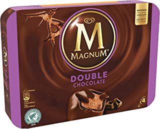Magnum Double Chocolate Multipack Ice Cream Stick, 88ml (Pack of 4) - Frozen