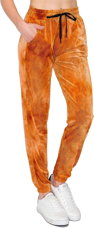 ALWAYS Women's Ribbed Knit Sweatpants with Pockets - Premium Soft Stretch Lightweight Drawstring Waist Pants
