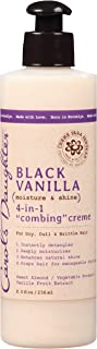 Carol's Daughter Black Vanilla Moisture & Shine 4-in-1 Combing Creme For Dry Hair and Dull Hair, with Sweet Almond Oil and Vanilla Fruit Extract, Hair Detangler, 8 Fl Oz (1 Count) (Packaging May Vary)