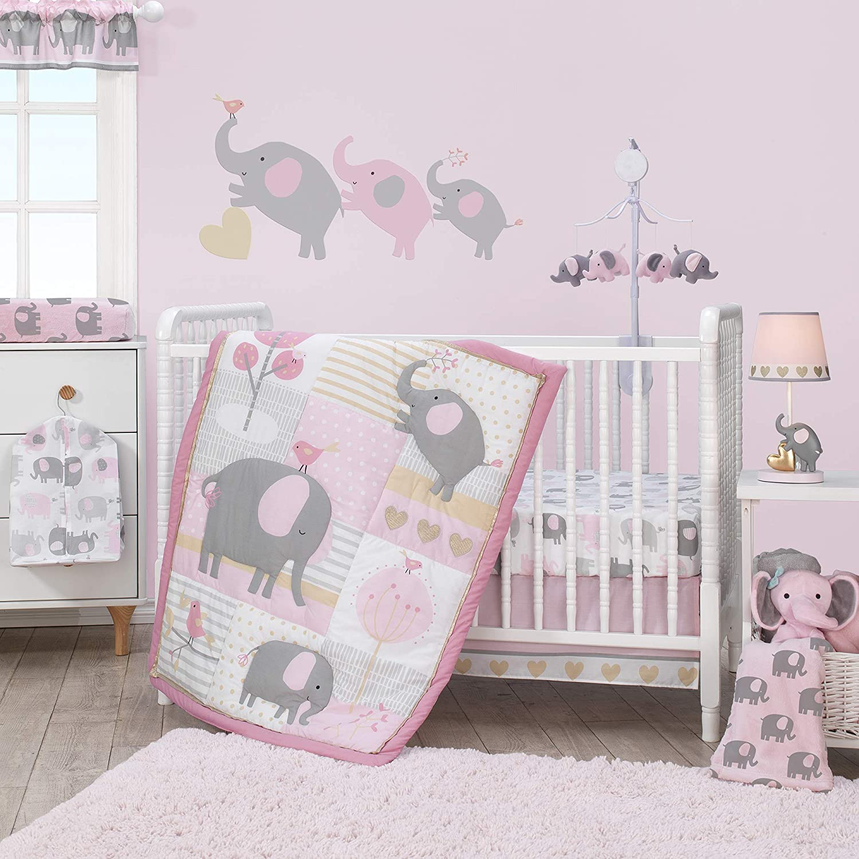Popular Bedtime Originals Eloise 3-Piece Fresno Mall Bedding Crib Set Pink