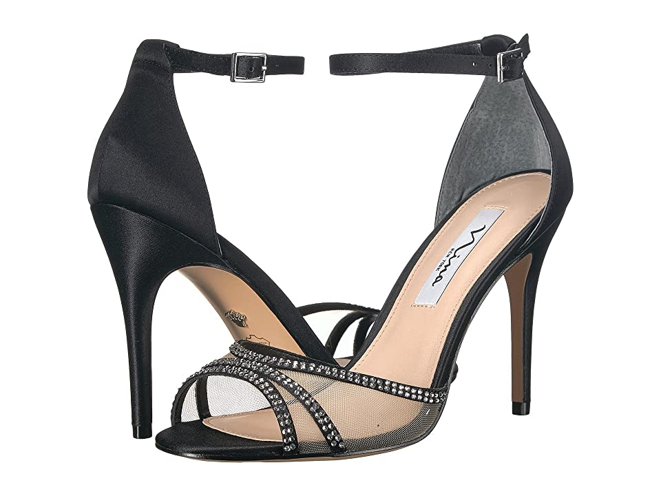 Nina Calissa (Black Satin) High Heels