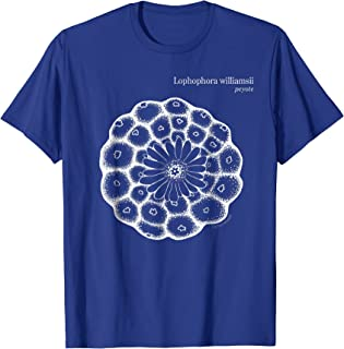 Lophophora williamsii white print, Peyote Cactus T-shirt